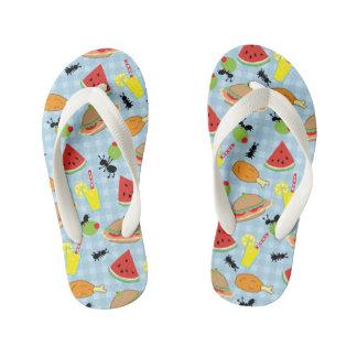 Funny Picnic Food Kid's Flip Flops