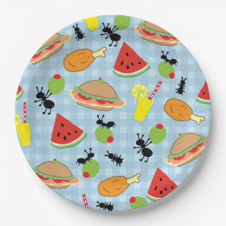 Funny Picnic Food Paper Plate