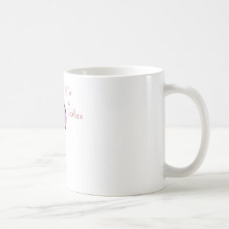 funny picture of a pink dinosaur TeaRex Mug