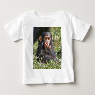 funny picture of young chimpanzee t shirt