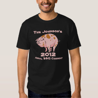 Funny Pig Annual Family BBQ Cookout Party Custom T Shirt
