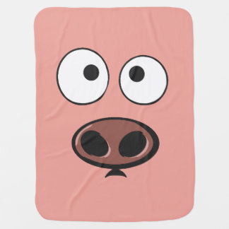 Funny Pig Baby Blanket