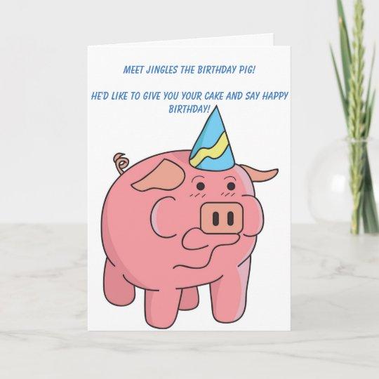 Funny Pig Birthday Card Zazzle