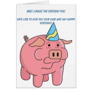 funny pig birthday greeting cards  zazzle, Birthday card