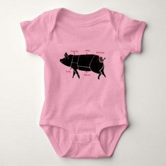 Funny Pig Butcher Chart Diagram Baby Bodysuit