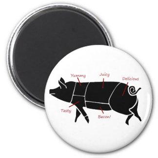 Funny Pig Butcher Chart Diagram Magnets