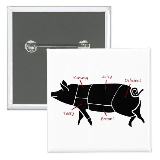 Funny Pig Butcher Chart Diagram Pin