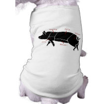 Funny Pig Butcher Chart Diagram Shirt