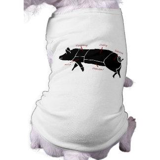 Funny Pig Butcher Chart Diagram Shirt