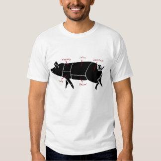 Funny Pig Butcher Chart Diagram T-shirts