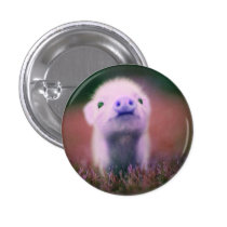 funny pig button