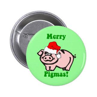 Funny pig Christmas Pins