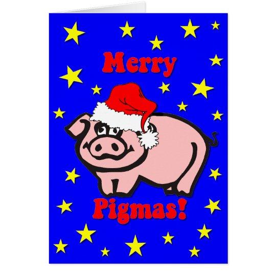 Funny pig Christmas Card