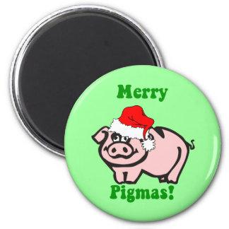 Funny pig Christmas Magnet