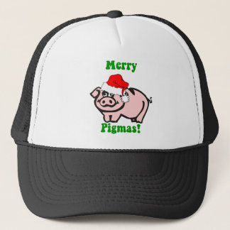 Funny pig Christmas Trucker Hat