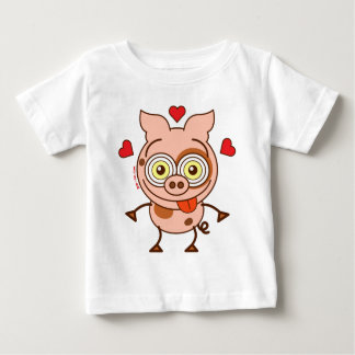 Funny pig feeling madly in love baby T-Shirt