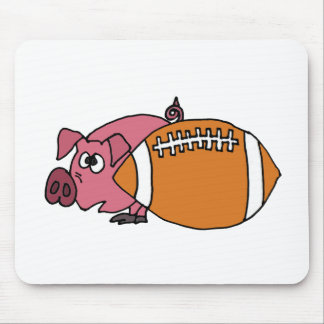 Funny Pig Hiding Behind Pigskin Mouse Pads