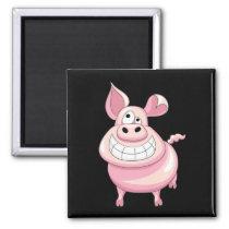 Funny Pig Magnet