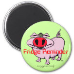 Funny pig marnet 2 inch round magnet