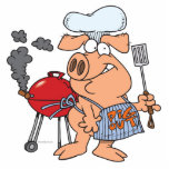 funny pig out BBQ barbecue piggy pig Photo Cutouts