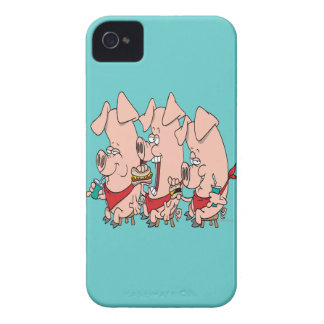 funny pig out party piggy cartoon Case-Mate iPhone 4 case