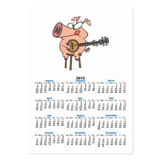 funny pig playing a banjo cartoon character business cards