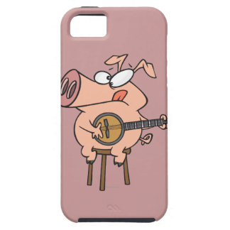 funny pig playing a banjo cartoon character iPhone SE/5/5s case
