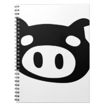 Funny Pig Shape Notebook