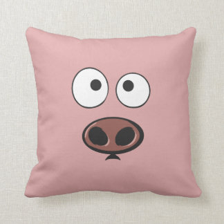 Funny Pig Throw Pillows