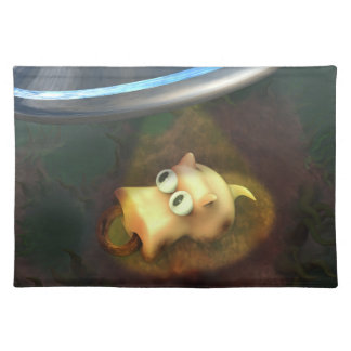 Funny Pig UFO Abduction American MoJo Placemats
