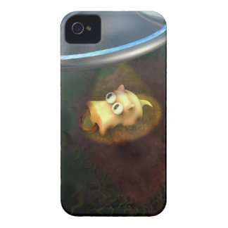 Funny Pig UFO Abduction Case iPhone 4 Case