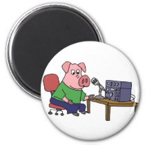 Funny Pig Using Ham Radio Magnet