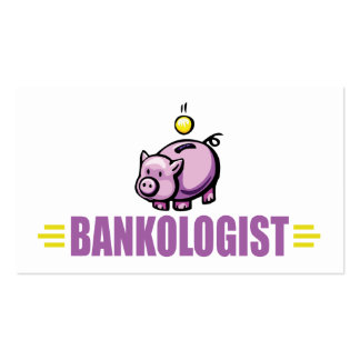 Funny Piggy Bank Business Card Template