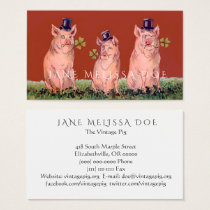 Funny Pigs Two-Sided Business Card