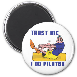 Funny Pilates 2 Inch Round Magnet