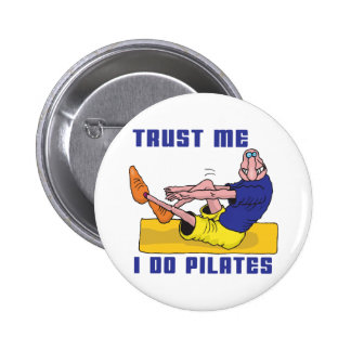 Funny Pilates Pinback Button