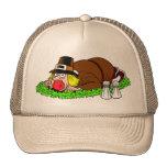 Funny Pilgrim Picture Trucker Hat