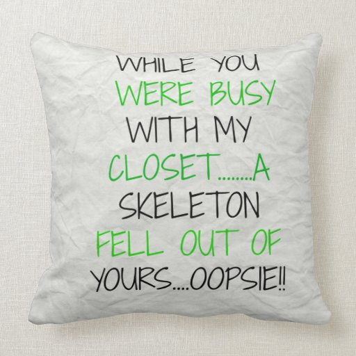 funny pillows + funny throw pillows