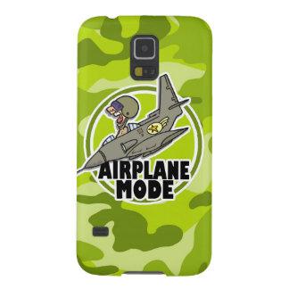 Funny Pilot bright green camo camouflage Galaxy S5 Cases