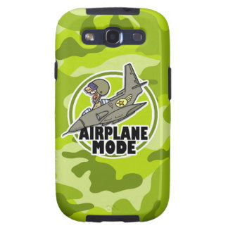 Funny Pilot bright green camo camouflage Samsung Galaxy SIII Cover