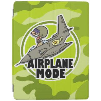 Funny Pilot bright green camo camouflage iPad Cover