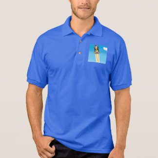Funny Pilot Duck Cartoon Polo Shirt