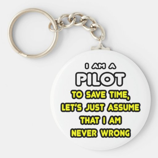Funny Pilot T-Shirts and Gifts Basic Round Button Keychain