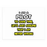 Funny Pilot T-Shirts and Gifts Postcard