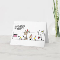 Funny Pin The Tail Birthday Card