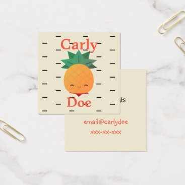 Professional Business Funny pineapple business cards