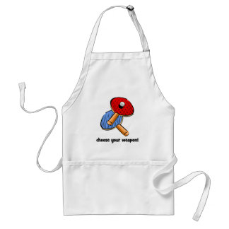 funny ping pong adult apron