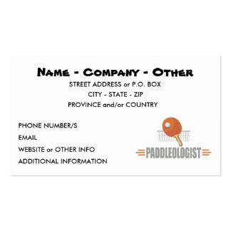 Funny Ping Pong Business Card Template