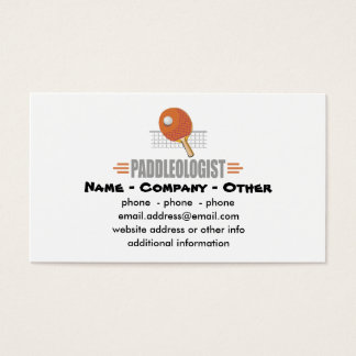 Funny Ping Pong Business Card