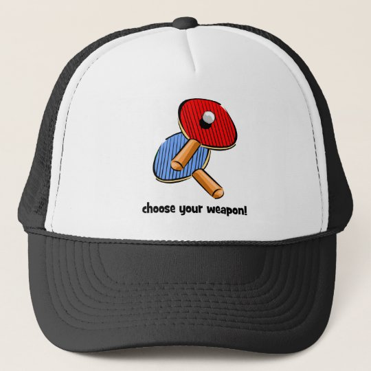 funny ping pong trucker hat